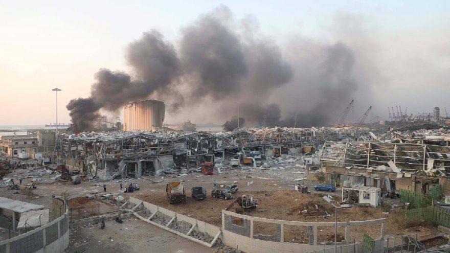 Beyrut patlamasının görüntüleri
