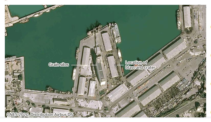 Beyrut patlamasının uydu görüntüleri