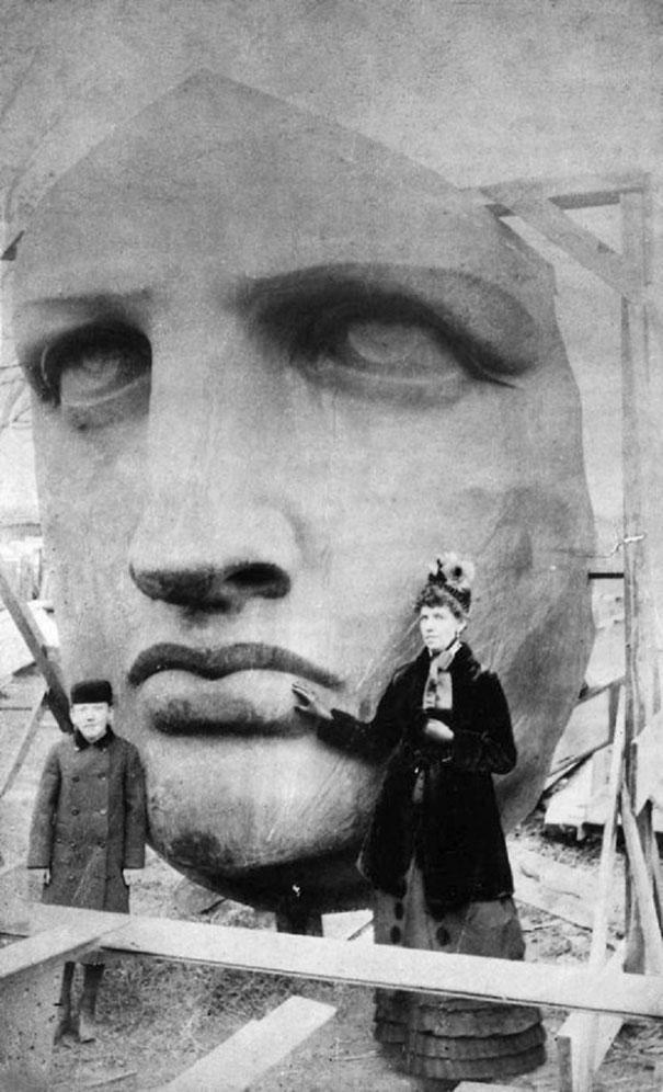 özgürlük heykelinin yüzü